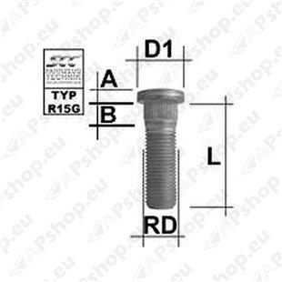 TIKKPOLT TP14X1.50/41/14.90 (P55/41. D14.9) M1415RE50A