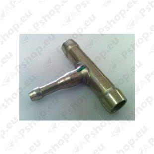 Webasto W1320573A Kütuseliidis kolmik metall,8x5x8,L50,H36