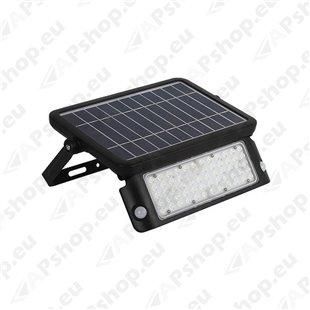 LED SOLAR PROZEKTOR+ANDUR 10W 1080LM 300X215MM NEUTRAALVALGE. MUST IP65 A++ KOBI