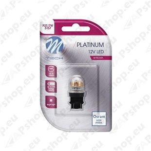 12V/24V P27/7W LED PIRN 3.3W 3157 CANBUS PLATINUM BLISTER 1TK (OSRAM LED) M-TECH