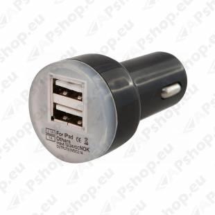 USB LAADIJA 2 PESAGA 12/24V 3.1A 4CARS
